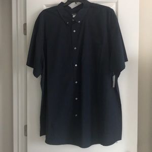 Big mans short sleeve dress shirt
